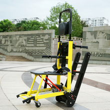 2019 Men and women with disabilities easily climb the stairs up and down the stairs to fold the electric climbing wheelchair