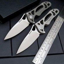 Newest Maker 3 design Original ceramic ball bearing Flipper folding knife S35vn TC4 Titanium handle camping hunting knife
