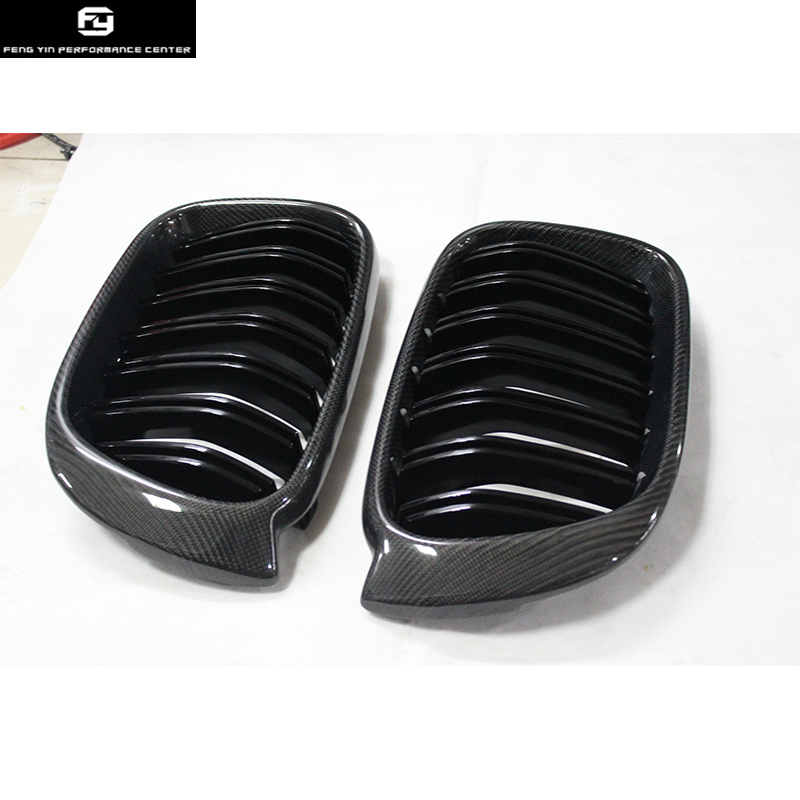 F26 X4 Carbon fiber ABS Three color Front Bumper Grill for BMW F26 X4 Racing Grills 15 16