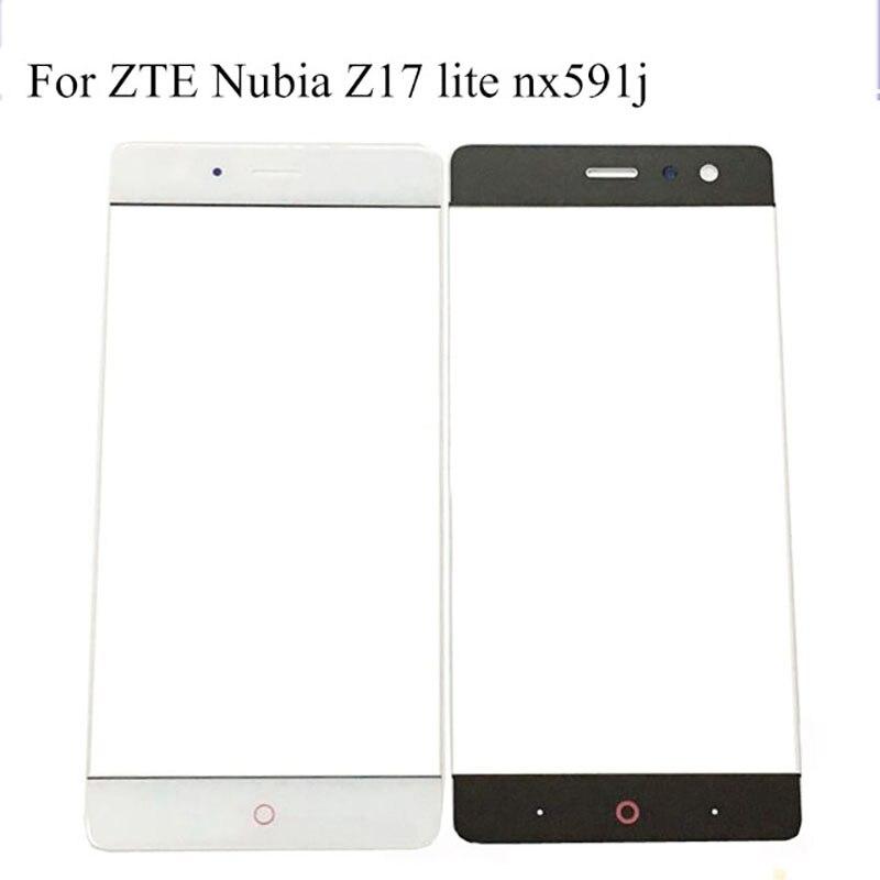5,5 zoll Weiß schwarz Digitizer Touchscreen Glas Len panel Ohne Flex Kabel Für ZTE Nubia z17 liteZ 17 lite NX591j NX 591J
