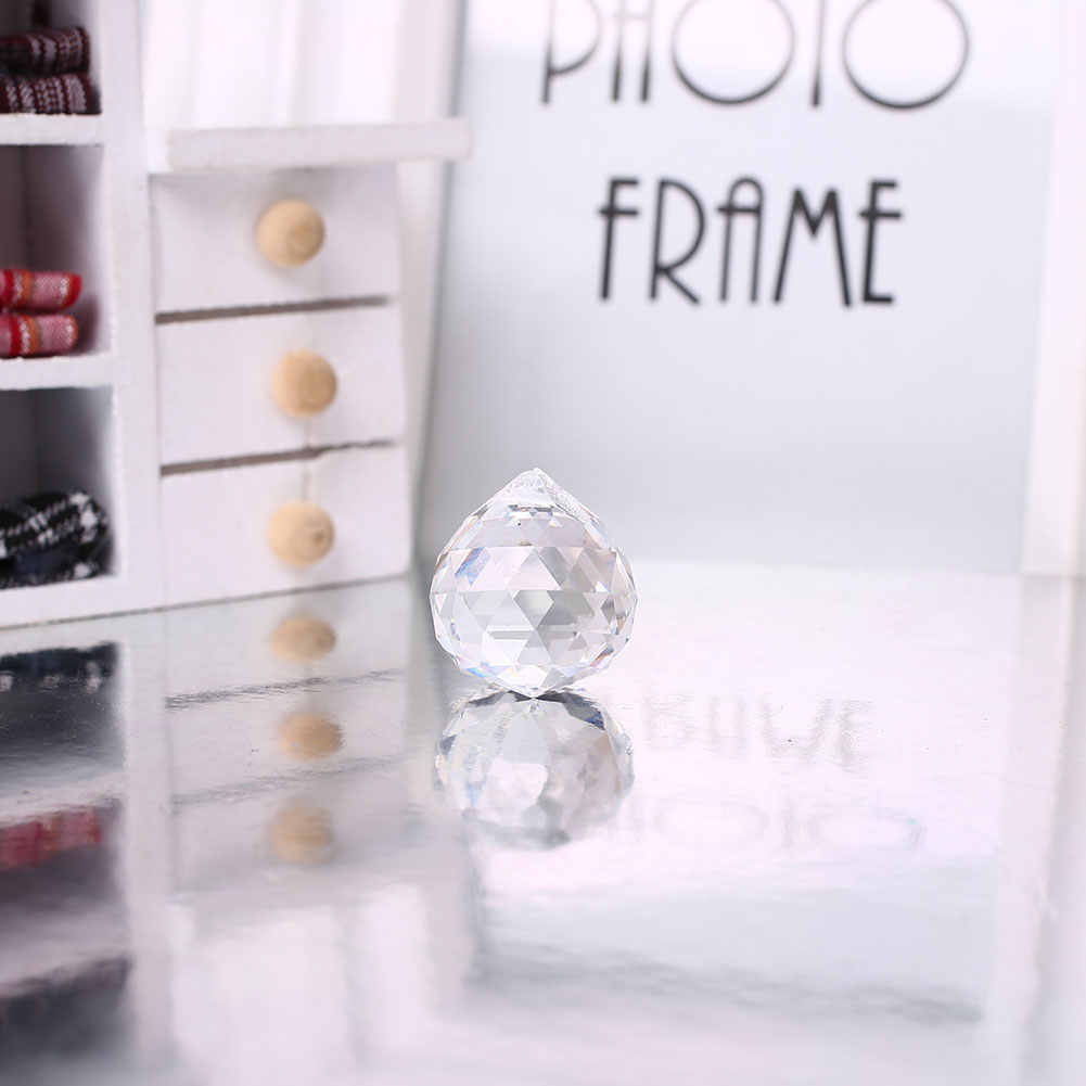 20 มม. คริสตัลคริสตัลแก้วคริสตัลบอลแขวน Prism Suncatcher โคมไฟจี้งานแต่งงาน