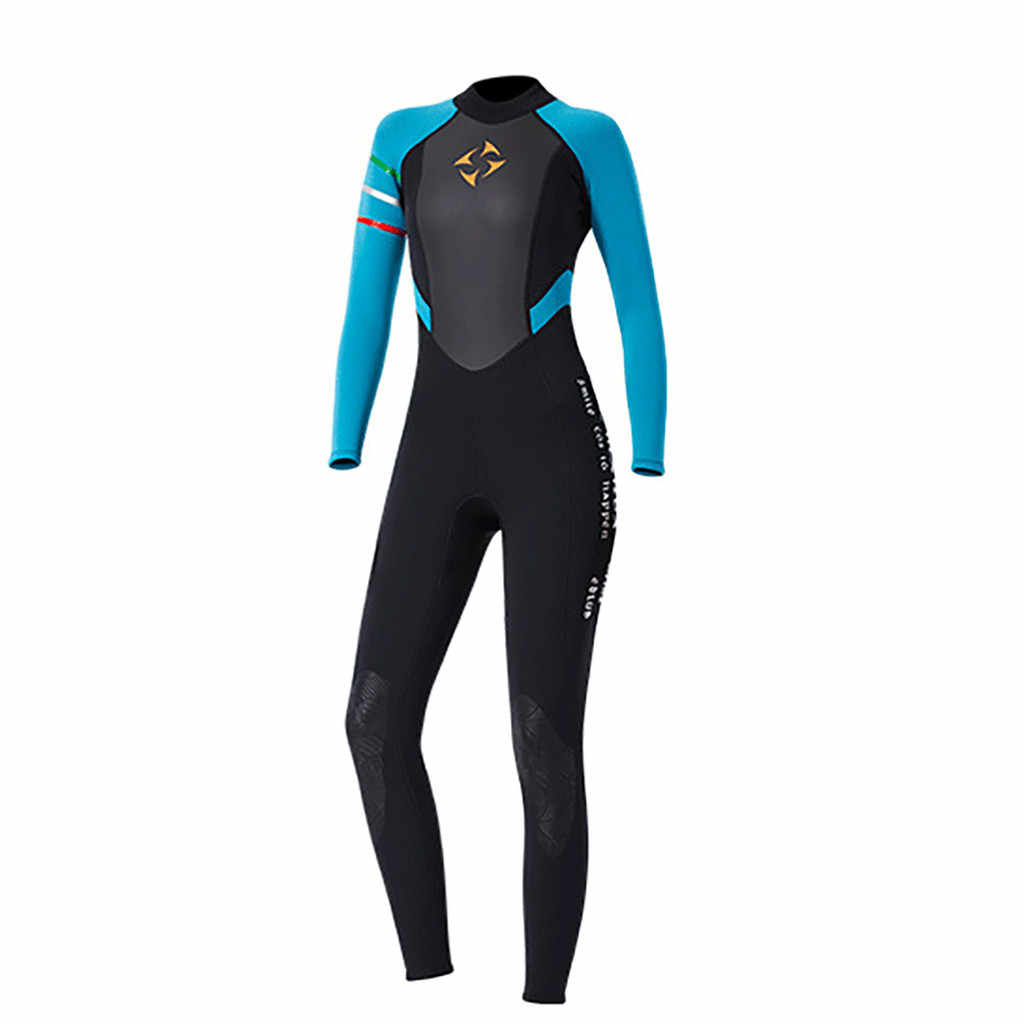 2019 Nieuwe Mode Ademend Comfortabele Vrouwen 3mm Duiken Pak Full Body Scuba Wetsuit Surf Zwemmen Jumpsuit April.