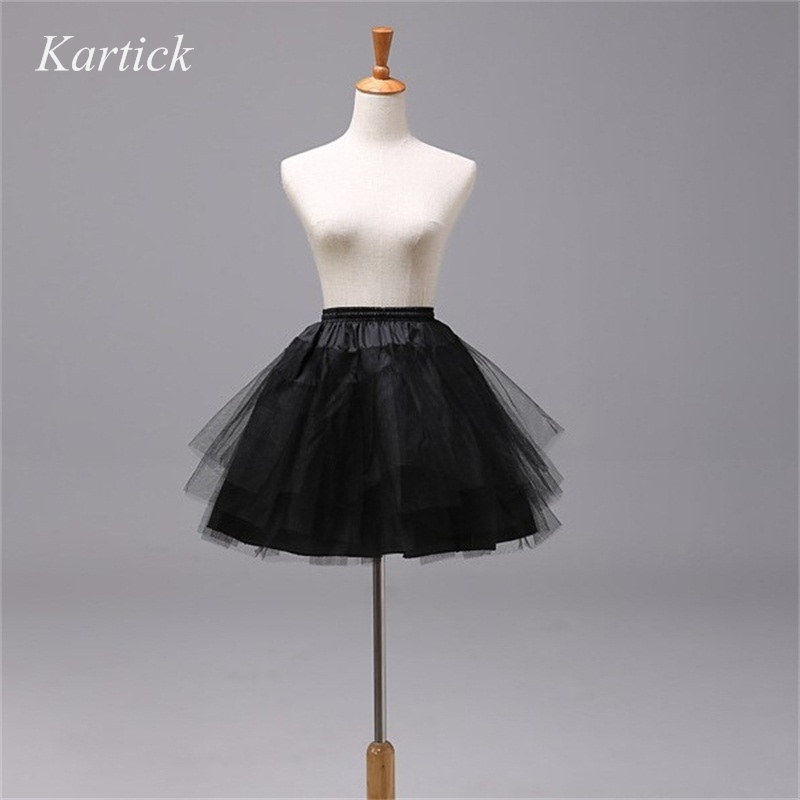 Brand New Petticoats Without Hoop White Black Red Crinoline Wedding Accessories 3 Layers Lady Girls In Stock Short Underskirt