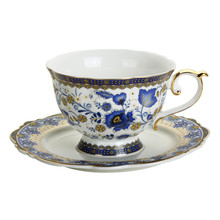 Fine Bone China Teacups Coffee Cups with Saucer, Ceramic Tea Mugs Set Teaware set Drinking Cup Mug