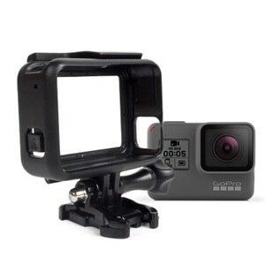 Image 2 - Koruyucu çerçeve kılıf standart açık kabuk + uzun vida + taban montaj GoPro Hero 5 siyah