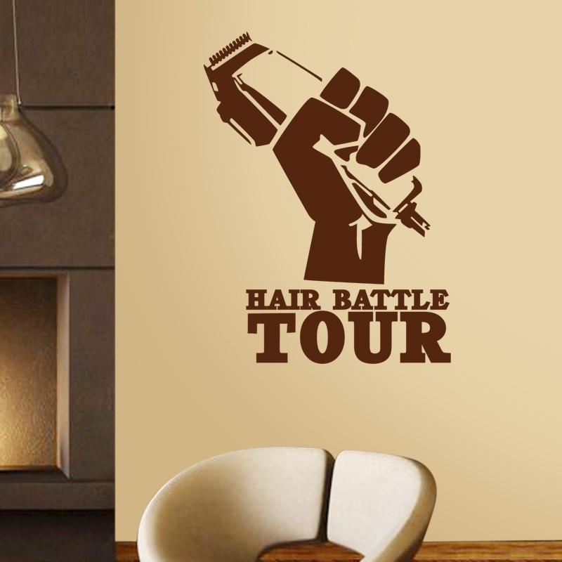 Təraş Salonu Etiketli Saç Qırışları Gentleman Decal Saç - Ev dekoru - Fotoqrafiya 2