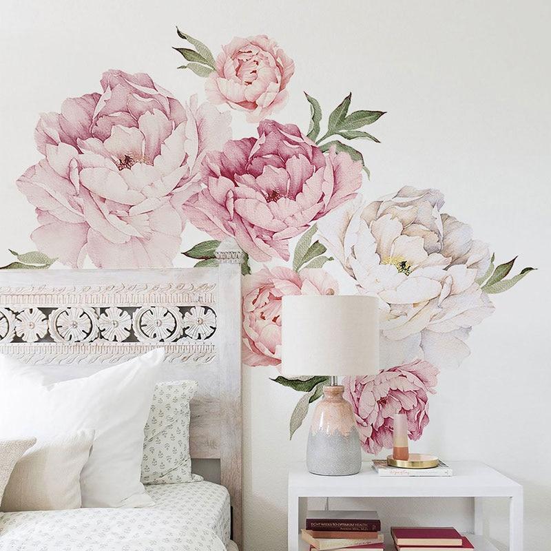 Aliexpress.com : Buy Peony Flowers Wall Sticker for ...