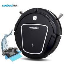 Robot Aspirador con Gran Potencia De Aspiración Wet and Dry Mopping Tanque de Agua, aspirador Seebest D730