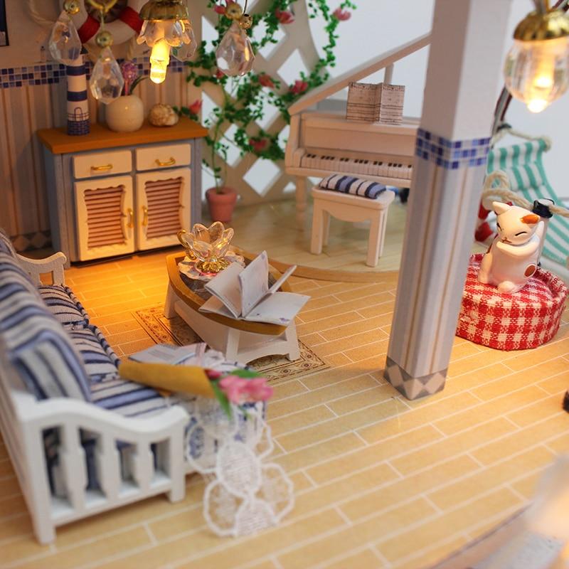 Жиһаз DIY ағаш үйімен миниатюр - Қуыршақтар мен керек-жарақтар - фото 3