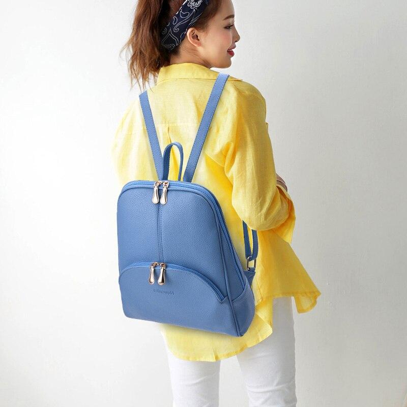 HTB1.JVIaZvrK1Rjy0Feq6ATmVXak Nevenka Mini Backpack Women Light Weight Daypacks Girls Fashion Backpacks Ladies Leather School Bag Female Gray Backpack Black