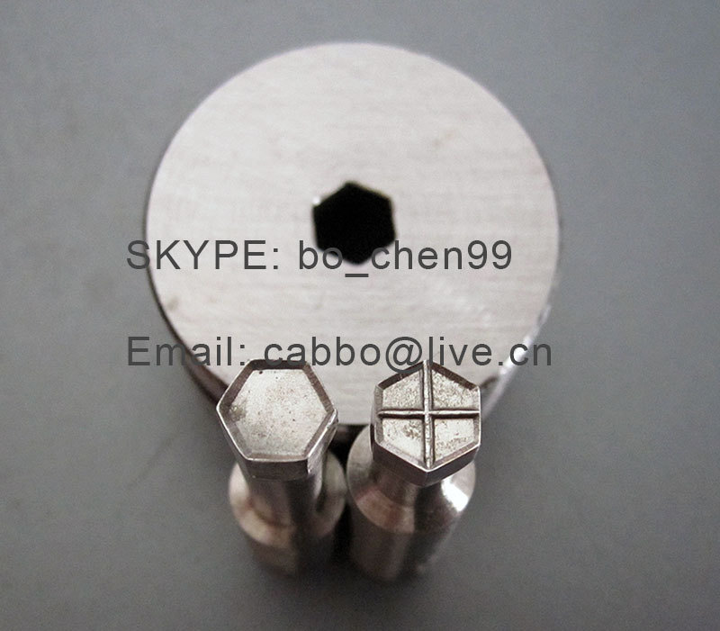 HEXAGON stamp mould / die set/punch for the single punch tablet press machine  free shipping hexagon stamp mould die set punch for the single punch tablet press machine free shipping