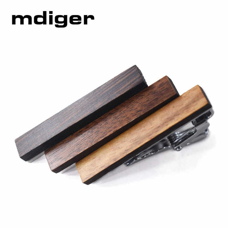 Mdiger Classic Tie Bar Men Jewelry Simple High Quality Tie Clip 6 Colors Wood Tie Pin Gifts For Men Wedding