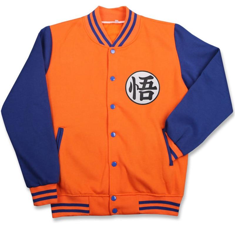 Anime Dragon Ball Costume Son Goku,master Roshi Cosplay Fleece Thick Sweatshirts Hoodies Zipper Hooded Baseball Uniform Clothing Soft And Antislippery
