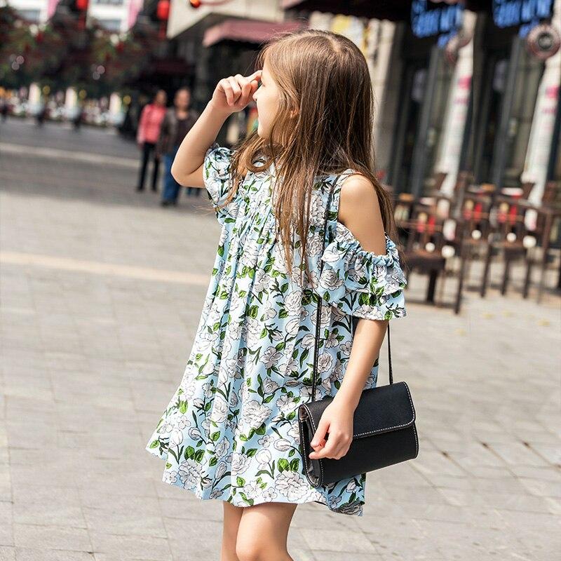 Sukienki szyfonowe sukienki dla dziewczynek 2016 Wiosna i lato - Ubrania dziecięce - Zdjęcie 2