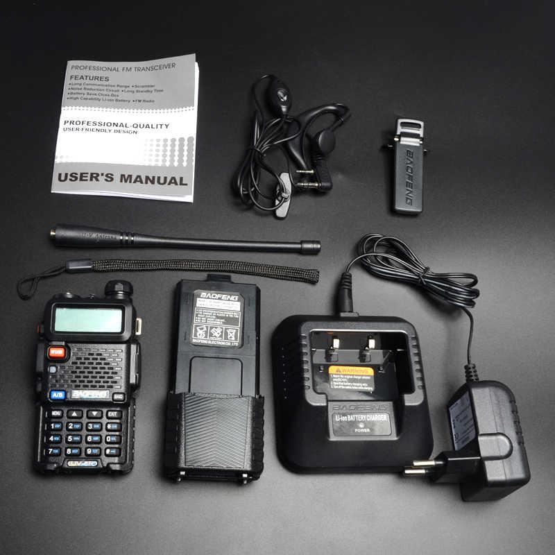 2 pcs/lot Baofeng UV-5R talkie-walkie VHF UHF double bande 3800 mAh longue veille 5 W Portable talkie-walkie émetteur-récepteur Radio bidirectionnel