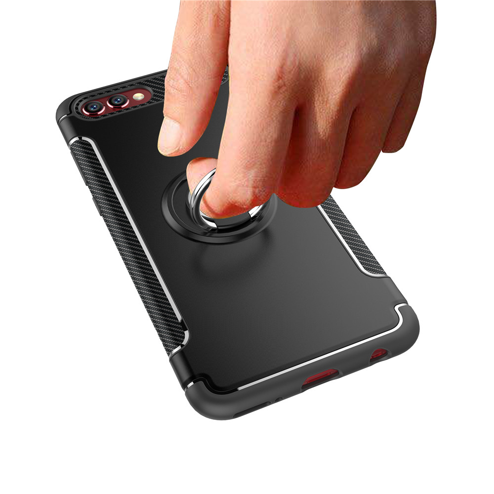 Case for Huawei Honor V10 Car Magnetic Shockproof Kickstand Silicone+PC Back Cover Case for Honor V10 Mobile Phone Case Fundas