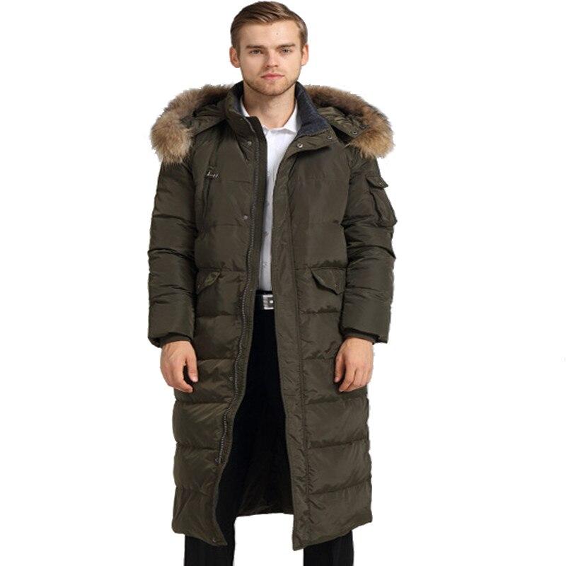 New Cotton Jacket Men Warm Winter Outwear Coat Fur Collar Hooded Down Parka Fashion Thicken Coats