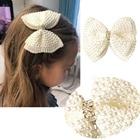 White Pearl Hair Bow...