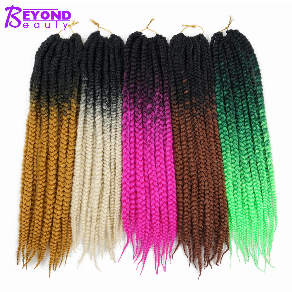 Jumbo 3s Box Braids Hairstyles Crochet Braids Ombre Soft