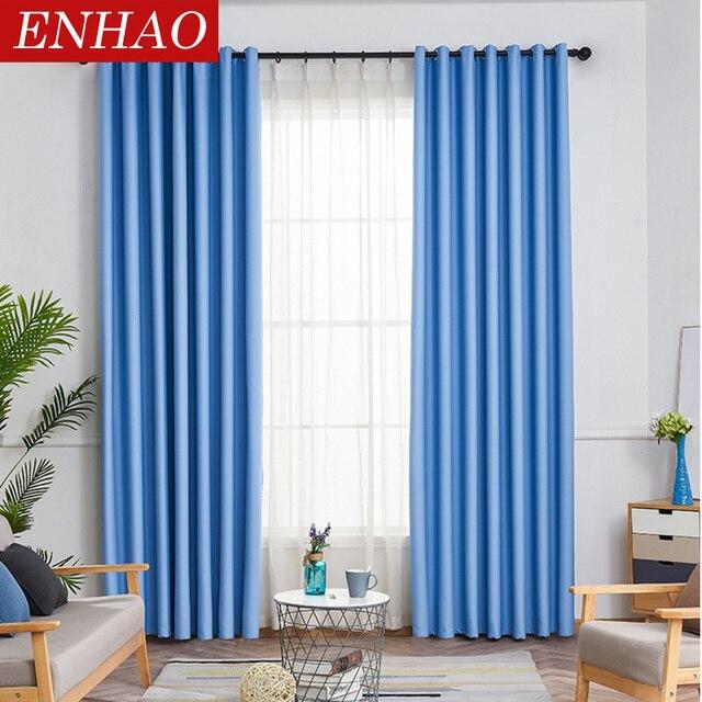 ENHAO โมเดิร์นผ้าม่านสำหรับผ้าม่านหน้าต่างสำหรับห้องนั่งเล่นห้องนอนห้องครัวหน้าต่างสำเร็จรูป 1 แผง
