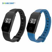 SMARCENT-8 Bluetooth 4.0 Плавать Душ Смарт Полосы 0.66 дюймов OLED Пульс Сна Монитор Артериального Кислорода Фитнес-Трекер IOS Android