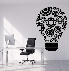 Image 1 - Vinyl wall decal bulb idea teamwork gear office decoration sticker office quote workstation inspirational wallpaper 2BG23