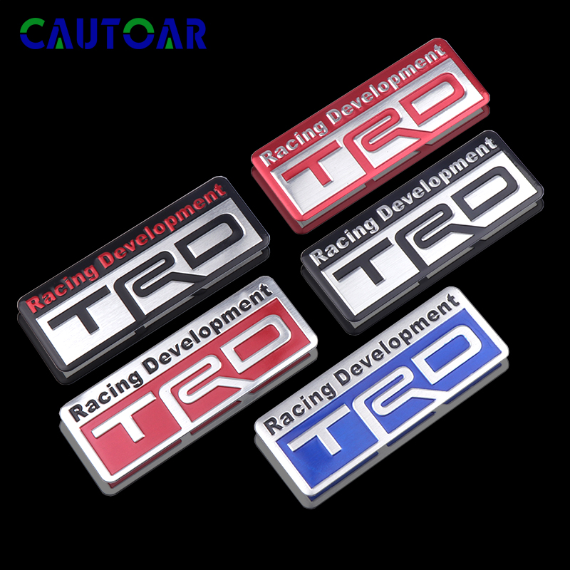 Car Styling TRD Racing Development Sport Emblem Stickers For Toyota CROWN Camry REIZ TRD LOGO Auto Decoration Accessories