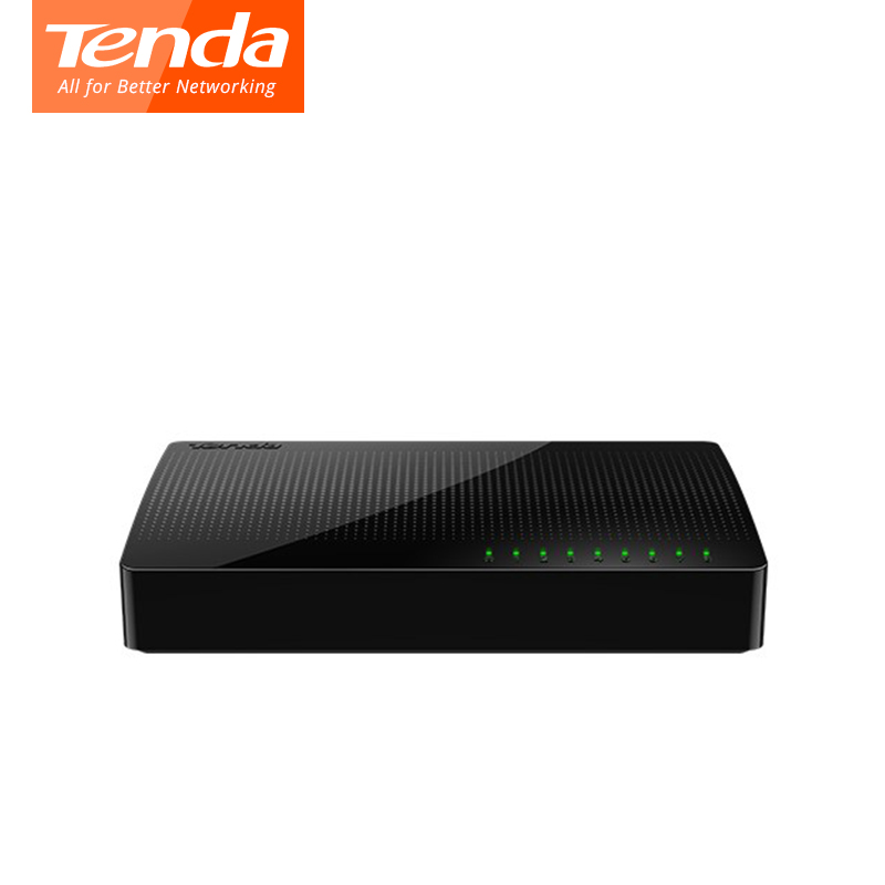 Tenda SG108 Ethernet Network Switchs 8 Gigabit 10/100/1000Mbps RJ45 Port Desktop SOHO Switch 1.6Gbps Capacity Plug And Play