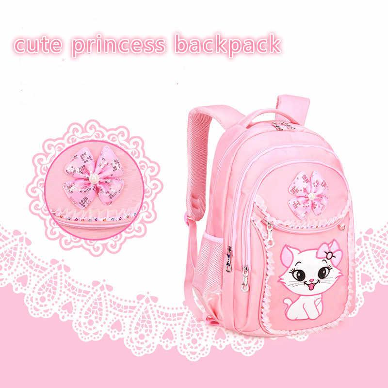 Детская школьная сумка Школьный рюкзак-Тележка школьный на колесиках сумка для девочек детский мультяшный Рюкзак Набор колесо школьный рюкзак с котиками