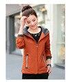 2016 Новый осень и зима женщины плащ тонкий моды плюс размер 4XL средней длины ветровка с капюшоном пиджаки XD037
