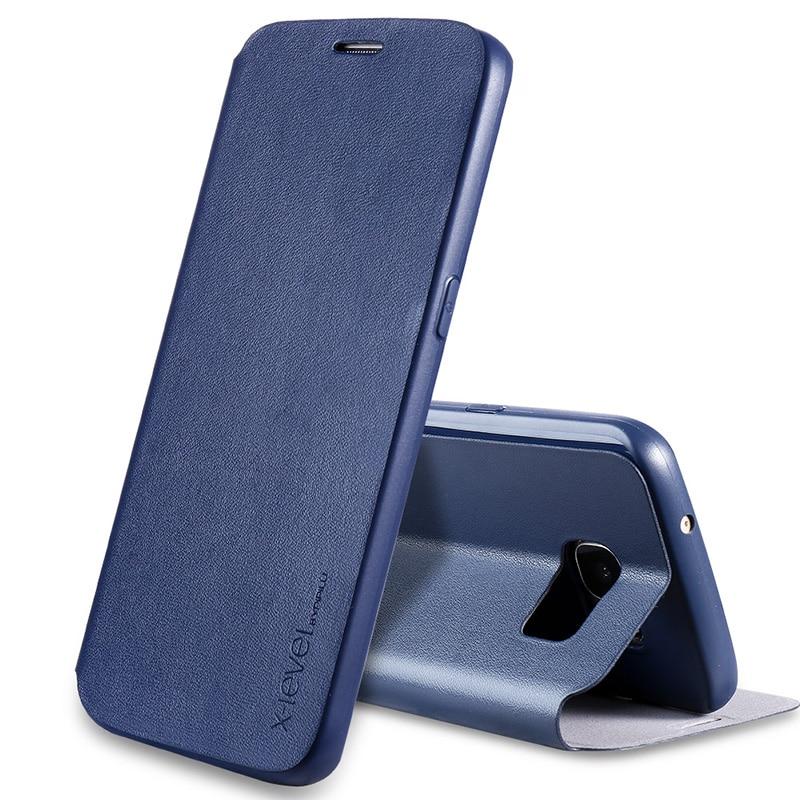 imágenes para Ultra Delgada de LA PU Funda de piel Para Samsung S7 S7 Borde de la Cubierta de Lujo Cubierta del Teléfono del tirón Para Samsung Galaxy Caso Borde Azul Coque S7 S7
