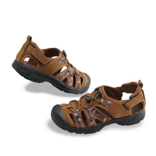 Summer Shoes Mens Leather Sandals Men Beach Shoes Breathable Non