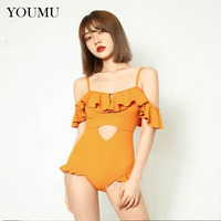 Lolita Girls One piece Swimwear Kawaii Falbala Hollow Backless Beach Tops Swimsuit Bikini Summer 223 144