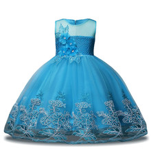 Kids Party Dresses Baby Girls Evening Princess Dress Wedding Dress Children Clotes Girl Costume 3 4 5 6 7 8 9 10 11 12 Year(China)