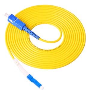 Image 3 - 10 шт. волоконный оптический патч корд ftth LC/UPC SC/UPC Одномодовый Simplex волоконный ПВХ кабель 3,0 мм 3 метра волоконный патч корд перемычка