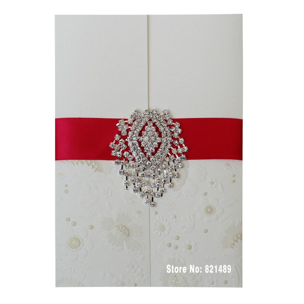 Wedding Invitation Suite, White Invitation, Elegant Wedding Invitation - Set of 30