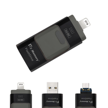 3 In 1 Lightning/Micro USB/USB 3.0 OTG USB Flash Drive 64GB For iPhone 5/5s/6/6/Plus/7/iPad High Speed Pen Drive