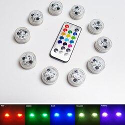 3 светодиода с дистанционным управлением RGB погружной светильник на батарейках подводный ночной Светильник ваза чаша для сада вечерние укр...