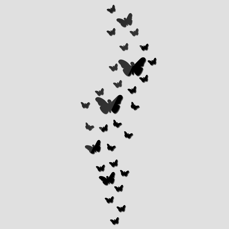 Diy Akrilik ayna duvar sticker kelebek Modern gerçek promosyon ev - Ev Dekoru - Fotoğraf 3