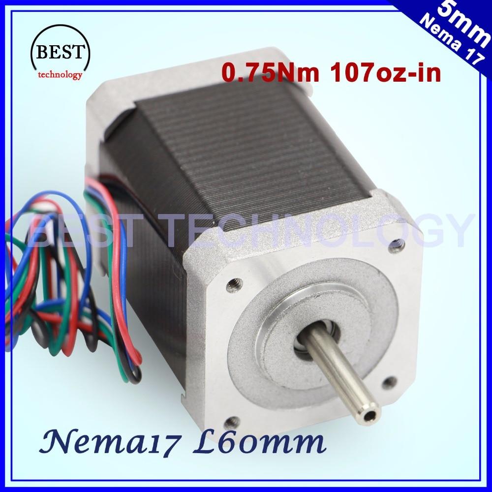 Nema17 stepper motor 0.6A 0.75Nm motor 60mm length 107Oz-in High torque Nema 17 stepper motor 7.5kg.cm For 3D printer Nema17 stepper motor 0.6A 0.75Nm motor 60mm length 107Oz-in High torque Nema 17 stepper motor 7.5kg.cm For 3D printer