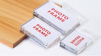 Akrylowa ramka na zdjęcia biurko znak dla biura biurko znak uchwyt magnetyczny akrylowa ramka magnes akrylowa ramka uchwyt na etykiety tabeli stojaki tanie i dobre opinie Nowoczesne Loripos Rectangle Z tworzywa sztucznego LP18041305