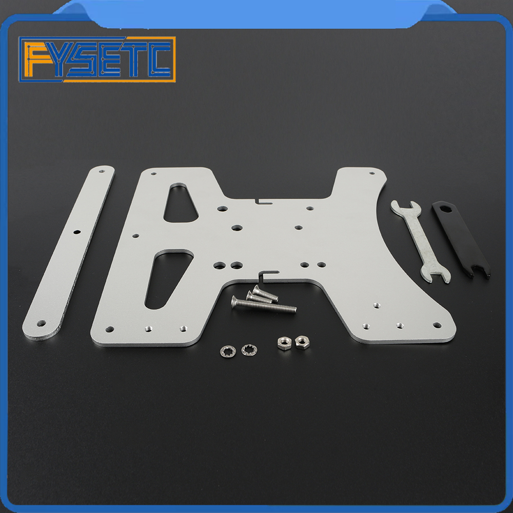 Image 4 - Cloned Aluminum Y Carriage Plate Kit Heated Bed Supports 3 Point Leveling For Creality Ender 3 Ender 3 Pro Ender 3S 3D Printer-in 3D Printer Parts & Accessories from Computer & Office