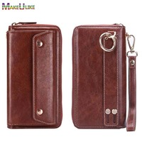 PU Leather Handbag Case For Huawei P9 P10 P20 Lite Mate 9 10 Pro Wallet Strap Pouch Universal Multipurpose Phone Bags Cases