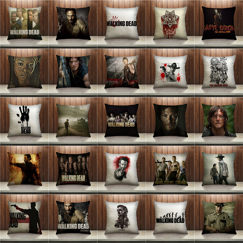 New Fashion The Walking Dead Pillow Case Sofa Bedroom Home Decorative Throw pillow cover sequin cushion cover For Your Life