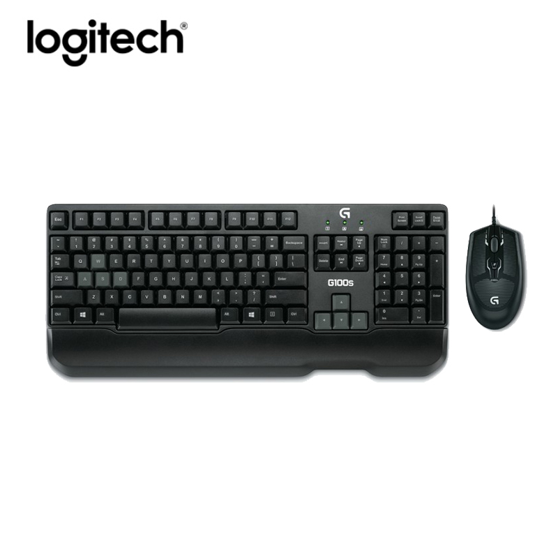 logitech g100s gaming wired keyboard and mouse combo laptop pc gamer 2500dpi optical ergonomics. Black Bedroom Furniture Sets. Home Design Ideas