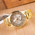 Hot Sale 2016 Summer Style Gold Watch Brand Women Wristwatch Ladies Clock Female Stainless Steel Gold Casual Pattern Fox Watches