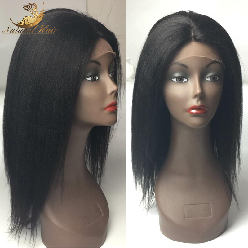 Girl 100% New Short Wig Unprocessed Cosplay 8-26inch Virgin Human Hair Wigs Fast Shipping Beauty Kinky Straight Women Wigs