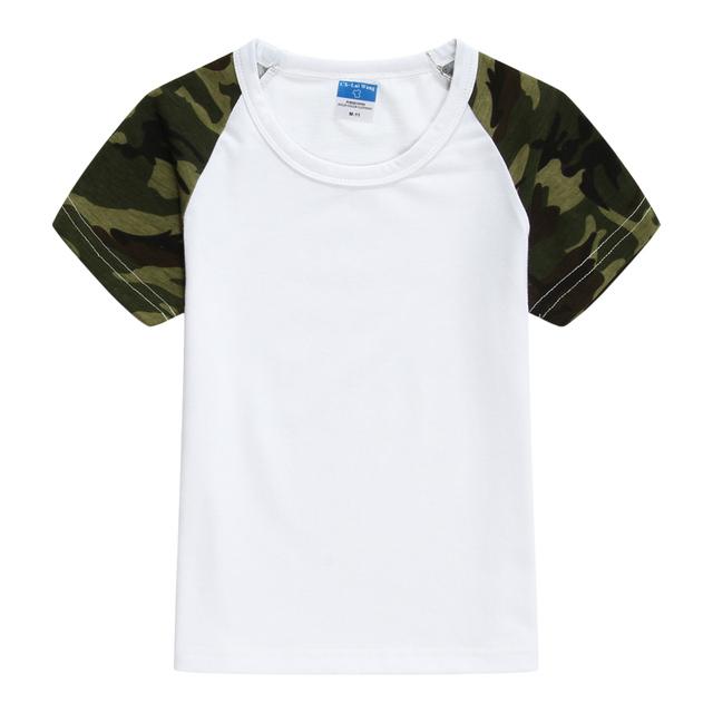 2019 Summer Camouflage Kids T Shirt Girls Boys Unisex short-sleeve Basic Tops Tees Child Clothing AKT154001