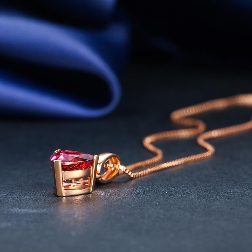 1 карат большой натуральный рубин дизайн подарок GVBORI 18 K розовый Золотой бриллиантовый кулон ожерелье свадебный бренд ювелирные изделия