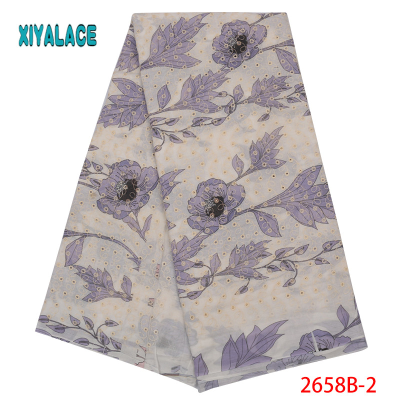 African Lace Fabric New Design Swiss Voile Lace 2019 High Quality Lace Voile Lace Fabric Switzerland Add Stones YA2658B-2